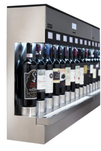 muur wijnrek open
